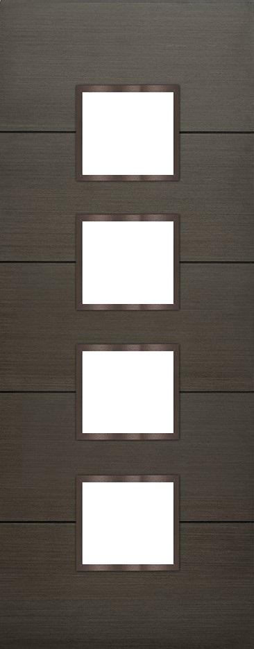 Internal Grey Koto Iona 4 Light Door Prefinished Clear Flat Glass