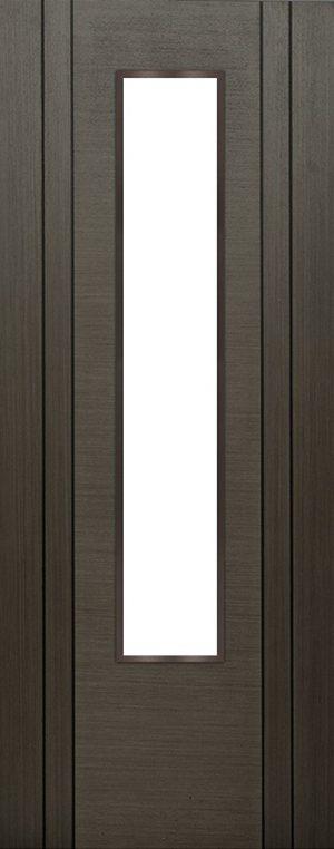 Internal Grey Koto Mull 1 Light Door Prefinished Clear Flat Glass