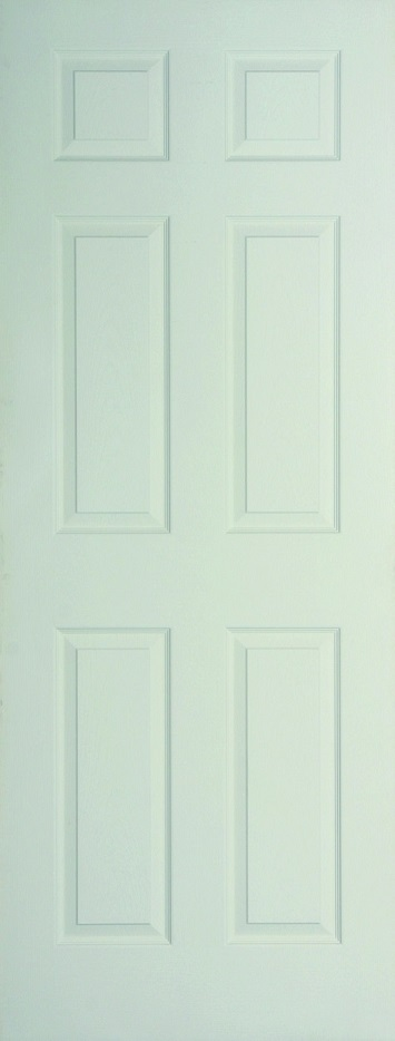 Internal White Moulded Woodgrain Colonist FD60 Fire Door Primed