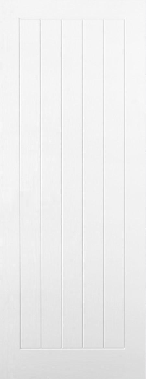 Internal White Moulded Woodgrain Mexicano FD60 Fire Door Primed